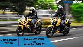 getlinkyoutube.com-Pulsar RS 200 vs Apache 200 FI - Comparison Review | MotorBeam