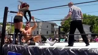 getlinkyoutube.com-Clutch Adams & Miranda Vionette vs. Sexy Beast Bull Dredd & Mandy Leon Northeast Wrestling 06/18/16