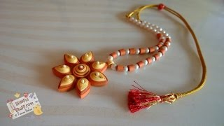 getlinkyoutube.com-DIY - Quilled Paper Necklace, How to make paper quilled jewellery