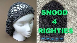 getlinkyoutube.com-Super Easy #Crocheted #Vintage #Snood #VideoTutorial (4 Righties)