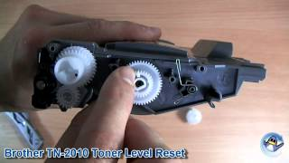How to Reset Toner Level on Brother TN2010/TN2220/TN-2010/TN-2220 Toner Cartridge