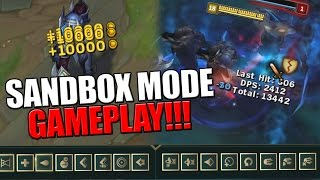 getlinkyoutube.com-UNLIMITED EVERYTHING!!! | Sandbox Mode Gameplay - League of Legends