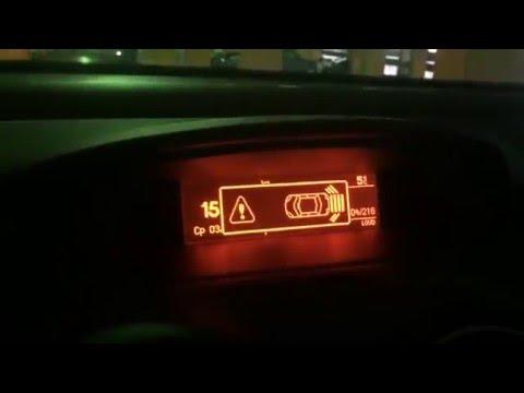 Как работает штатный задний парктроник Peugeot 308
