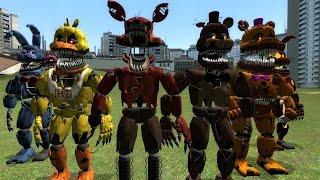 getlinkyoutube.com-Garry's Mod (GMod) Five Nights at Freddy's 4 (FNAF 4) NPCs