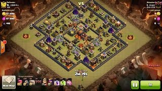 getlinkyoutube.com-Clash of Clans TH10 vs TH10 Six Golem & Wizard (GoWi) Clan War 3 Star Attack