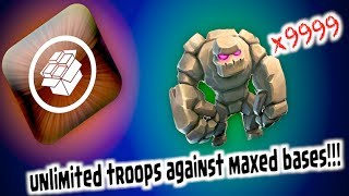 getlinkyoutube.com-CLASH OF CLANS - UNLIMITED TROOPS VS MAXED BASES!!!!