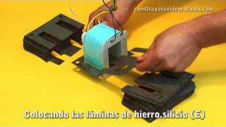 getlinkyoutube.com-Construcción de un transformador eléctrico - Build a electric transformer