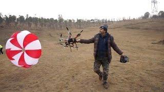 getlinkyoutube.com-Drone Parachute SkyCat Pro Emergency Parachute System for Drones