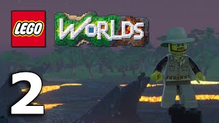 getlinkyoutube.com-The Jnx spelar Lego Worlds   #2   Bygger slott och flyger drake