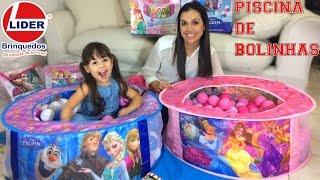 getlinkyoutube.com-Lider Brinquedos Piscina de Bolinhas Frozen Princesas Disney