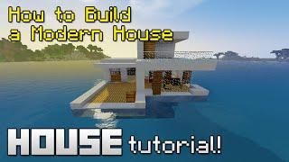 Minecraft : Modern+Underwater House - สอนสร้างบ้านโมเดิร์นใต้น้ำ