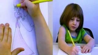 getlinkyoutube.com-Amazing Five (5) Year Old Draws and Colors Princess Peach