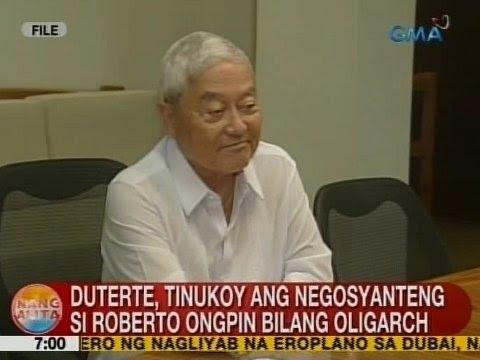 ... ang negosyanteng si Roberto Ongpin bilang oligarch | GMA News Online