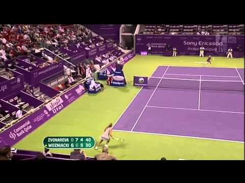 Caroline Wozniacki injured - Crying and winning - Superb tennis