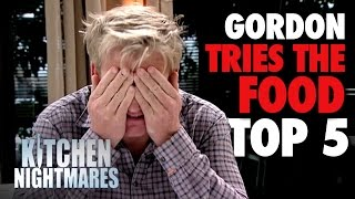getlinkyoutube.com-TOP 5 MEALS of 'Gordon Tries the Food' | Kitchen Nightmares