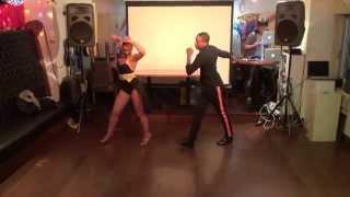 JOSE DIAZ & NEREA PEREZ at Salsa Domingo Special Night With Euphoria Aug. 10, 2014