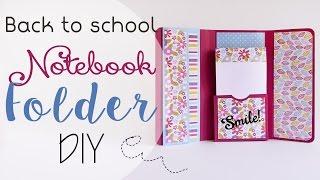 getlinkyoutube.com-Scuola: Cartella porta Appunti - ENG SUBS School: Notebook Folder DIY