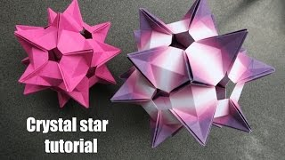 getlinkyoutube.com-crystal star - kusudama - Denver Lawson - tutorial - dutchpapergirl