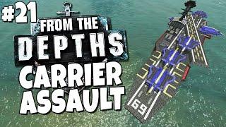 getlinkyoutube.com-From the Depths #21 - Aircraft Carrier Assault
