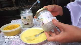 getlinkyoutube.com-Sida Loo Xanaaneeyo Tinta Iyo Shea Butter With Amazing Coconut Oil