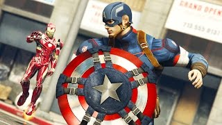 getlinkyoutube.com-IRON MAN vs CAPTAIN AMERICA!!