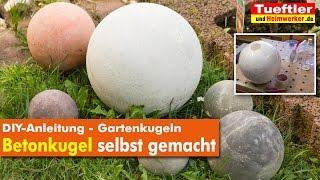 getlinkyoutube.com-DIY Gartendeko: Betonkugeln selbst gemacht