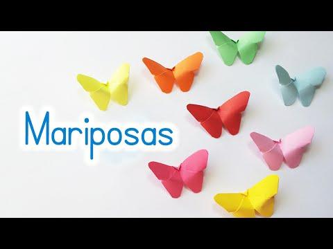 Manualidades: MARIPOSAS de PAPEL (fácil y rápido) - Innova Manualidades