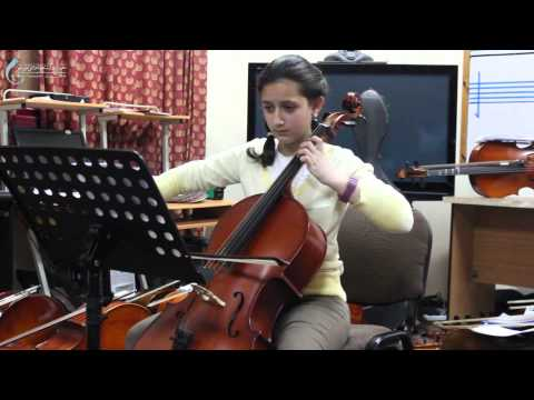 ESNCM GAZA BRANCH - Allegretto - Cello Student - Sama