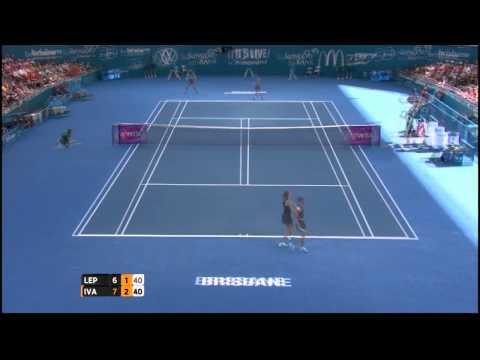 V Lepchenko (USA) vs A Ivanovic (SRB) Highlights 2015 Brisbane International