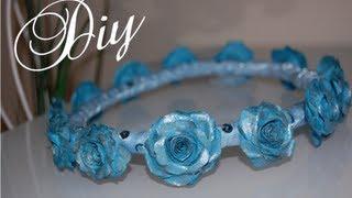 getlinkyoutube.com-DIY  Flower Crown (paper flowers)