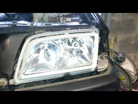 Mercedes w202 how to remove the headlight glass