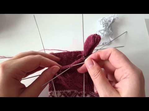 Tradycyjne estońskie rękawiczki - palce