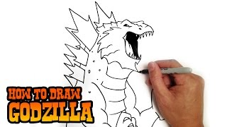 getlinkyoutube.com-How to Draw Godzilla