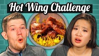 getlinkyoutube.com-ADULTS vs. FOOD - HOT WINGS CHALLENGE