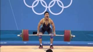 getlinkyoutube.com-Lu xiaojun   Clean and jerk world record 204 kg