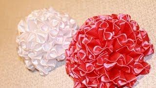 getlinkyoutube.com-Цветок канзаши - Пышный бант