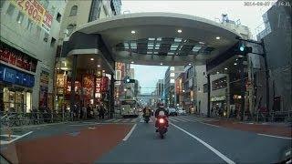 ★暴走族★小倉北区魚町を昼間から爆音走行する暴走バイク2台に遭遇