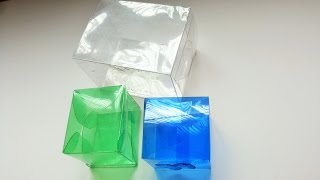 getlinkyoutube.com-Caixinha quadrada feita com garrafa pet ótimo para lembrancinha de aniversário