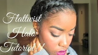 getlinkyoutube.com-Natural Hair - Protective Styling Halo Tutorial!!