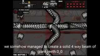 getlinkyoutube.com-Binding of Isaac Community remix Mod: A quadruple beam of teeth