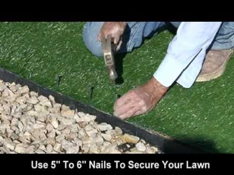 Realgrass At Home Depot Synthetic Artificial Turf Installati