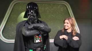 getlinkyoutube.com-Jill Simonian / TheFabMom.com: Disneyland's Star Wars Launch Bay & Darth Vader!