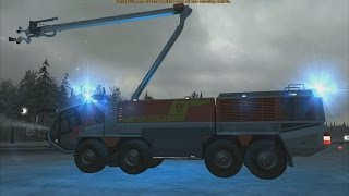 getlinkyoutube.com-Airport Firefighter Simulator 2015 - ARFF Panther in Action!