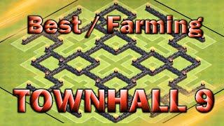 getlinkyoutube.com-Clash of Clan - Best (TH9) Farming base - 2 Air Sweepers
