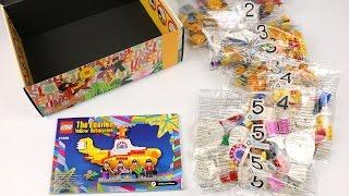 Unboxing LEGO Ideas The Beatles Yellow Submarine 21306