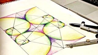 getlinkyoutube.com-How To Draw Golden Ratio Spirals ∞ Tutorial On Sacred Geometry