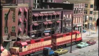 getlinkyoutube.com-Street Running Model Railroad (In HO Scale on The City Edge Layout)
