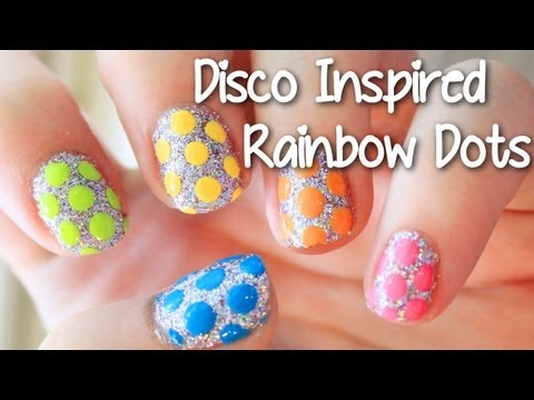 EASY Disco Inspired Rainbow Dots | TotallyCoolNails