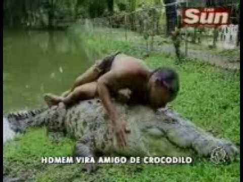 Balanço Geral: Homem encara Crocodilo de 5 metros