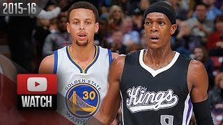 getlinkyoutube.com-Stephen Curry vs Rajon Rondo PG Duel Highlights (2015.11.07) Kings vs Warriors - EPIC!